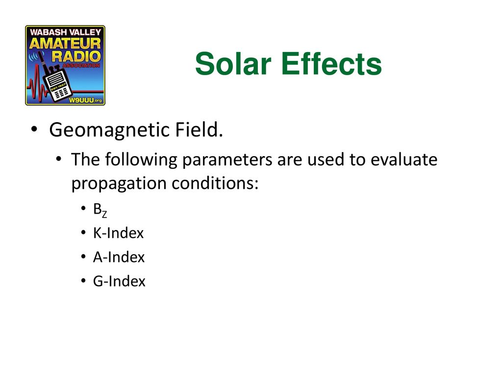 Solar Effects Geomagnetic Field.