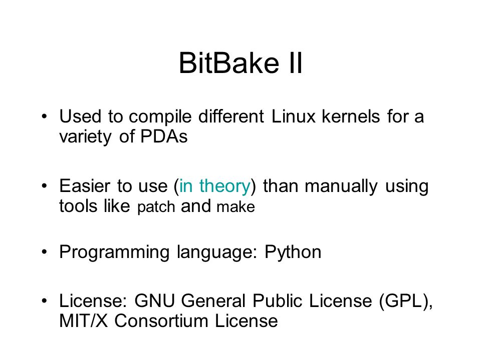 OpenEmbedded & BitBake - ppt video online download