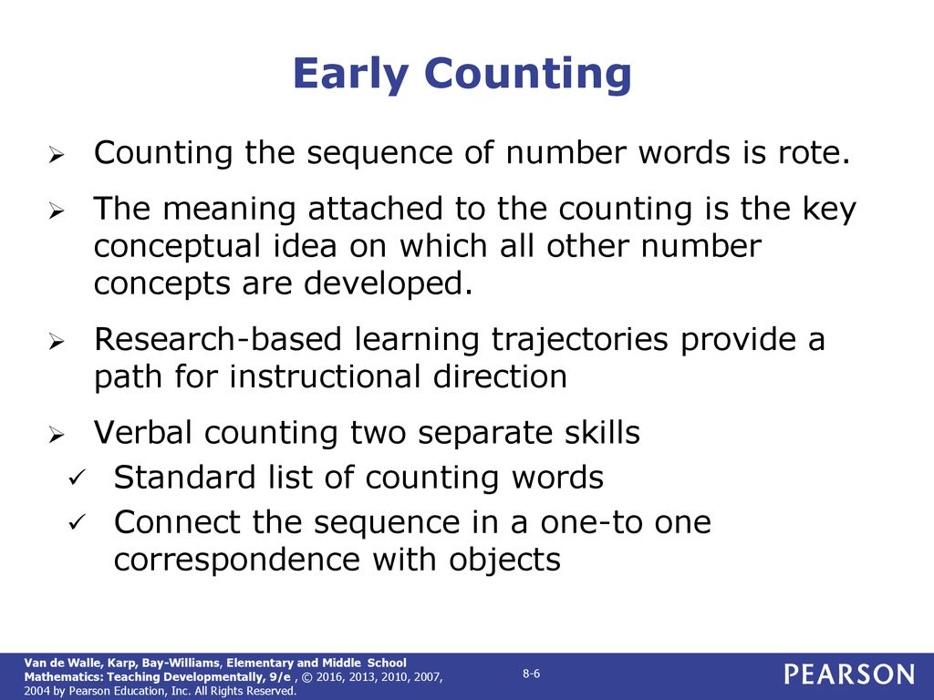 CHAPTER 8 Developing Early Number Concepts and Number Sense