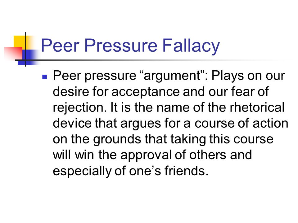 peer pressure argument