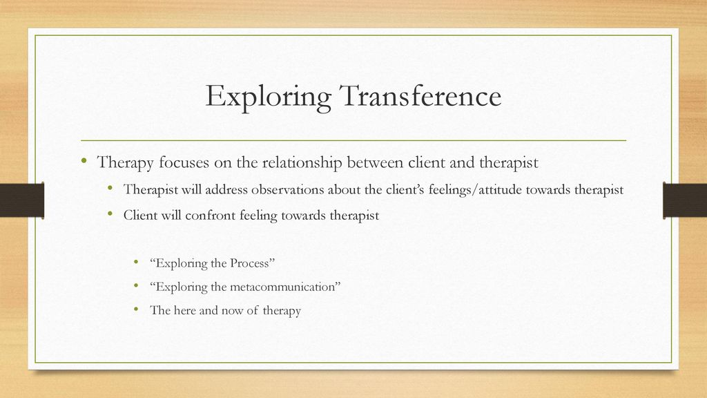 Transference and Countertransference - ppt download
