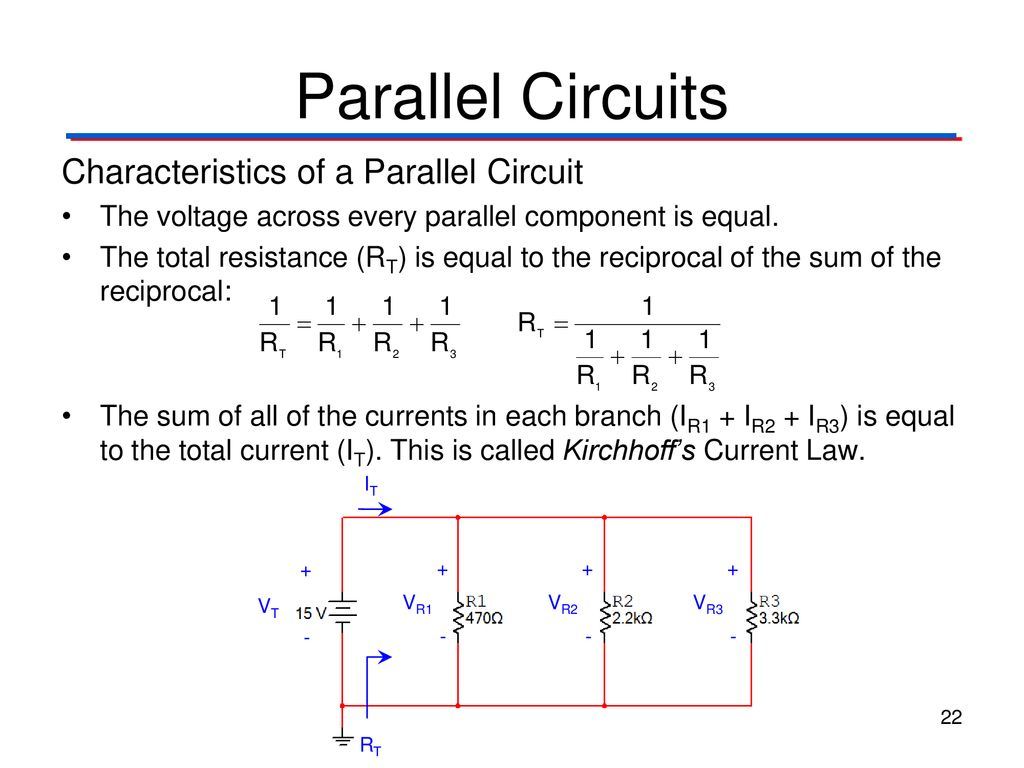 Circuit Theory Laws Digital Electronics Tm Ppt Electrical The Concept Of Wiring In Parallel And 22 Circuits Characteristics