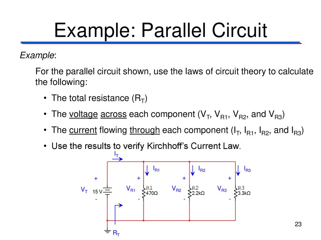 Circuit Theory Laws Digital Electronics Tm Ppt Real Life Example Of A Parallel 23