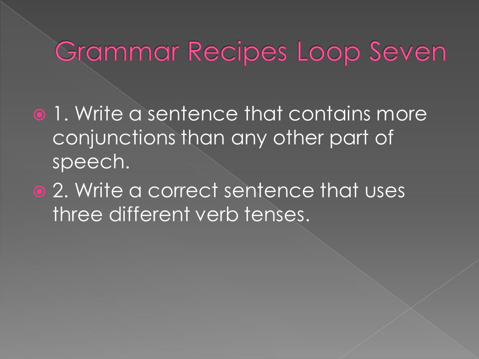 Grammar Recipes Loop Seven