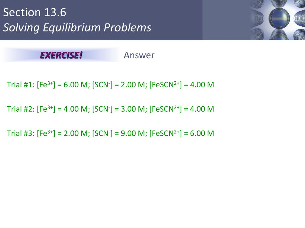 Solving Equilibrium Problems - ppt download