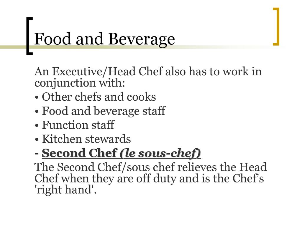 f&b executive meaning