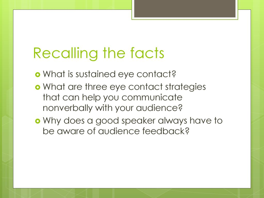 eye contact facts