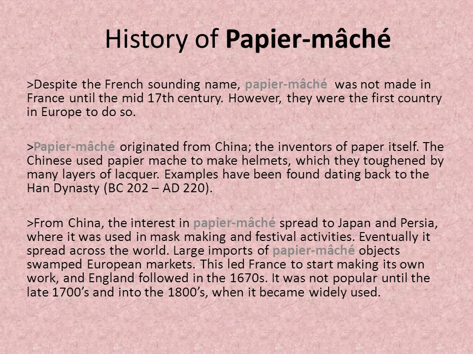 history of paper mache