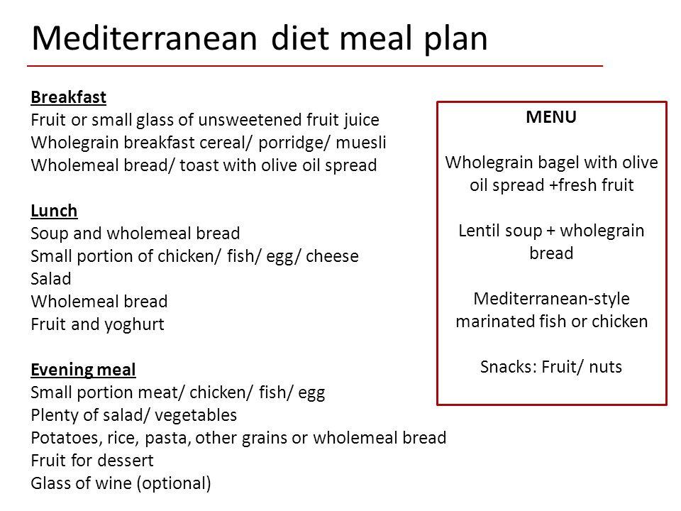 Mediterranean diet and - ppt video online download