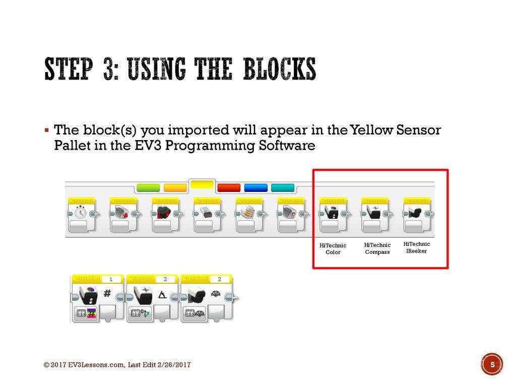 IMPORTING HITECHNIC BLOCKS - ppt download