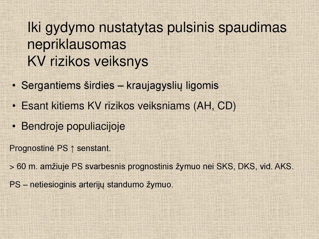 hipertenzija 1 ir 2 laipsnių rizika)