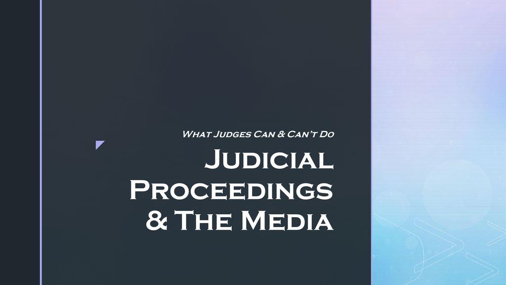 judicial proceedings