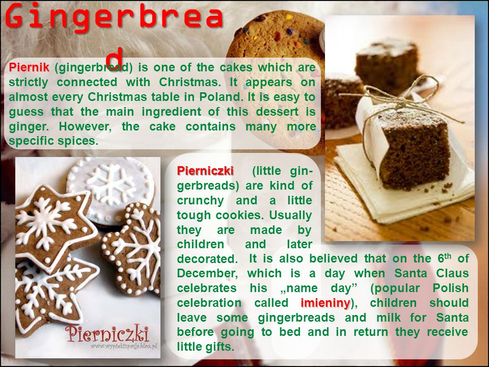 Polish christmas eve traditional dishes ppt download 13 gingerbread forumfinder Image collections
