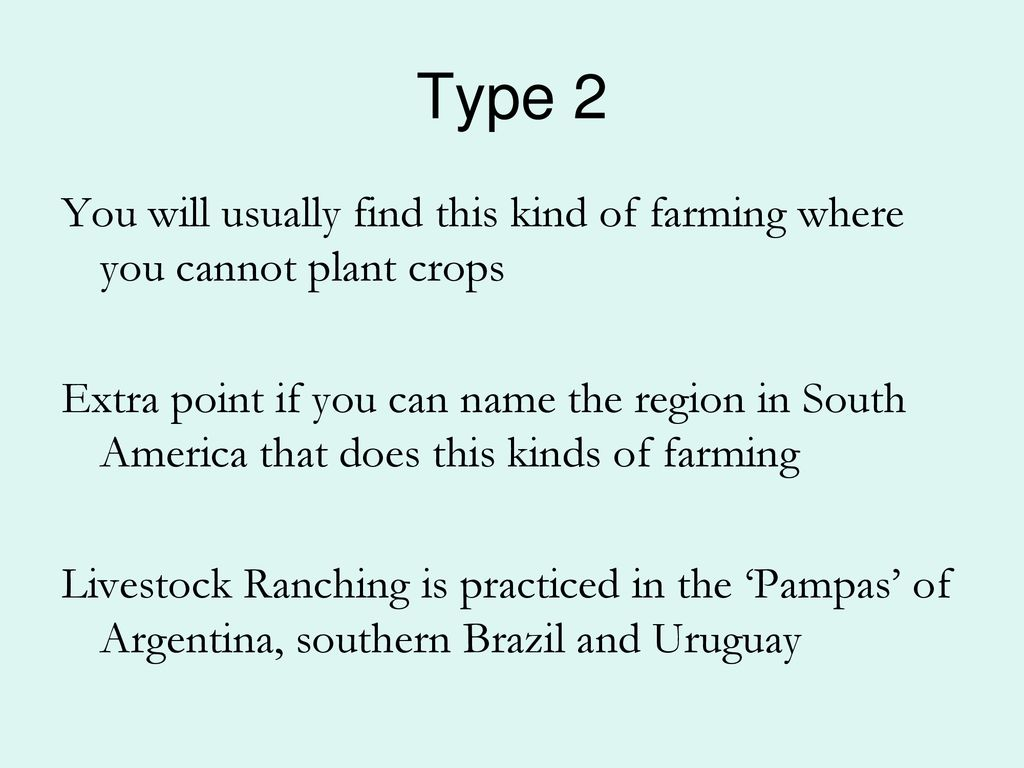 kinds of farming