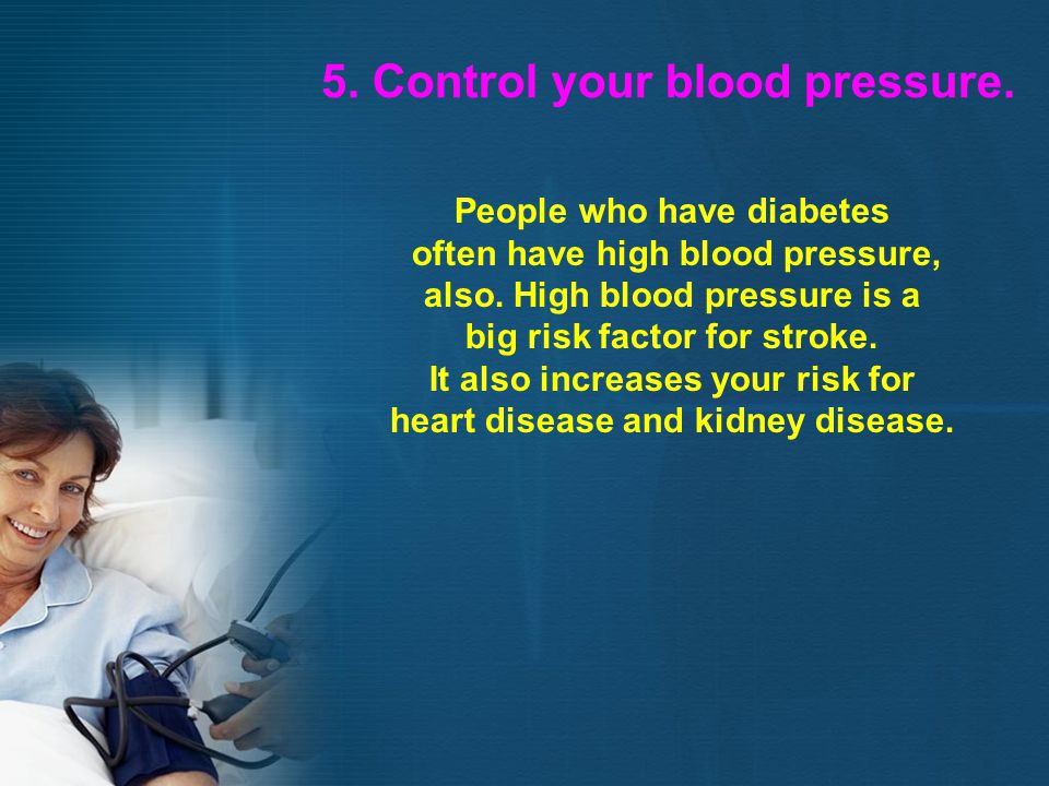 5. Control your blood pressure.