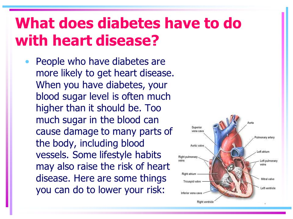 What does diabetes have to do with heart disease