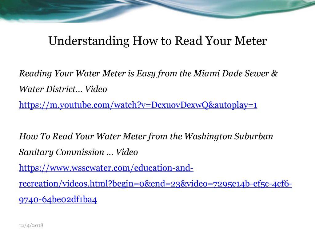 Understanding Your Water Bill - ppt download