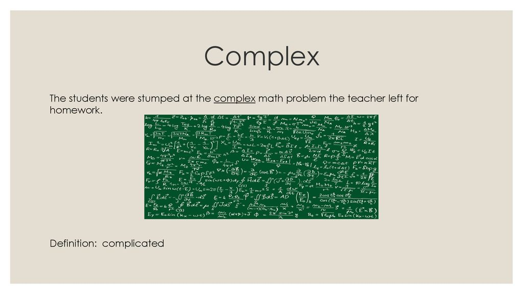 Complex The Students Were Stumped At Math Problem Teacher Left For Homework
