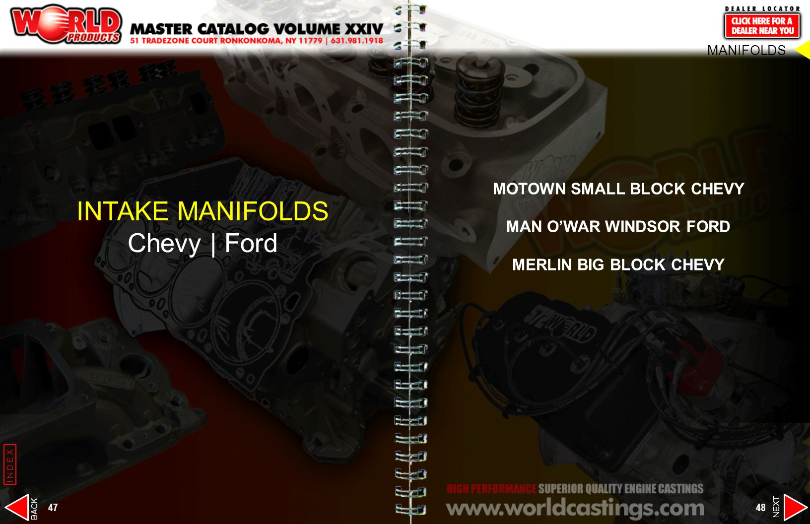 MOTOWN SMALL BLOCK CHEVY MAN O'WAR WINDSOR FORD MERLIN BIG BLOCK CHEVY