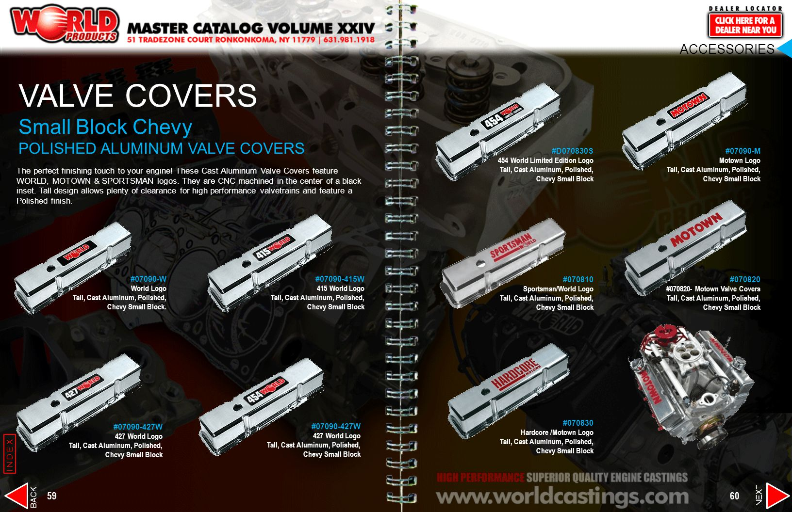 VALVE COVERS Small Block Chevy POLISHED ALUMINUM VALVE COVERS