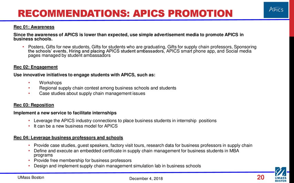 How to promote APICS in Business schools - ppt download