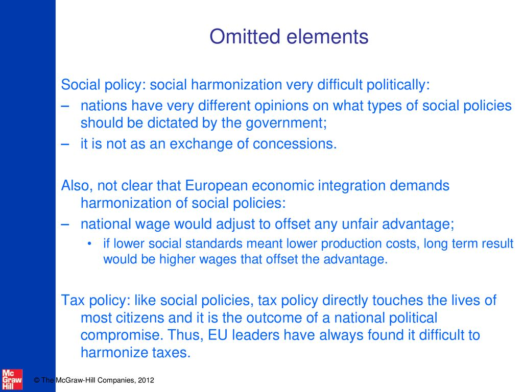 what is meant by social policy