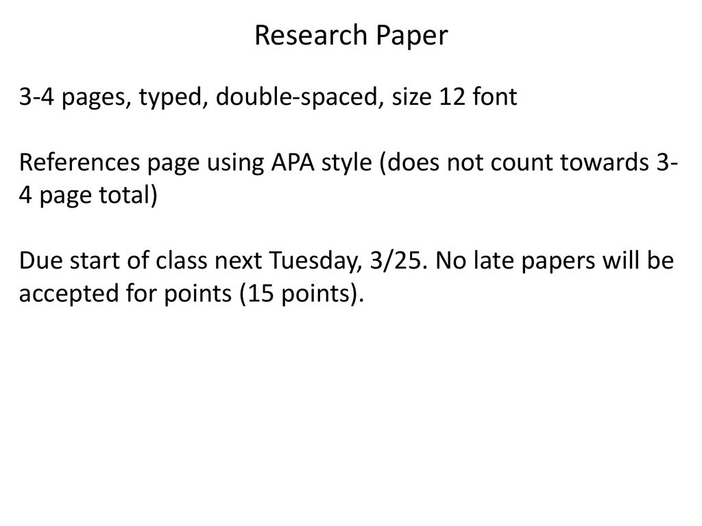 4 pages double spaced