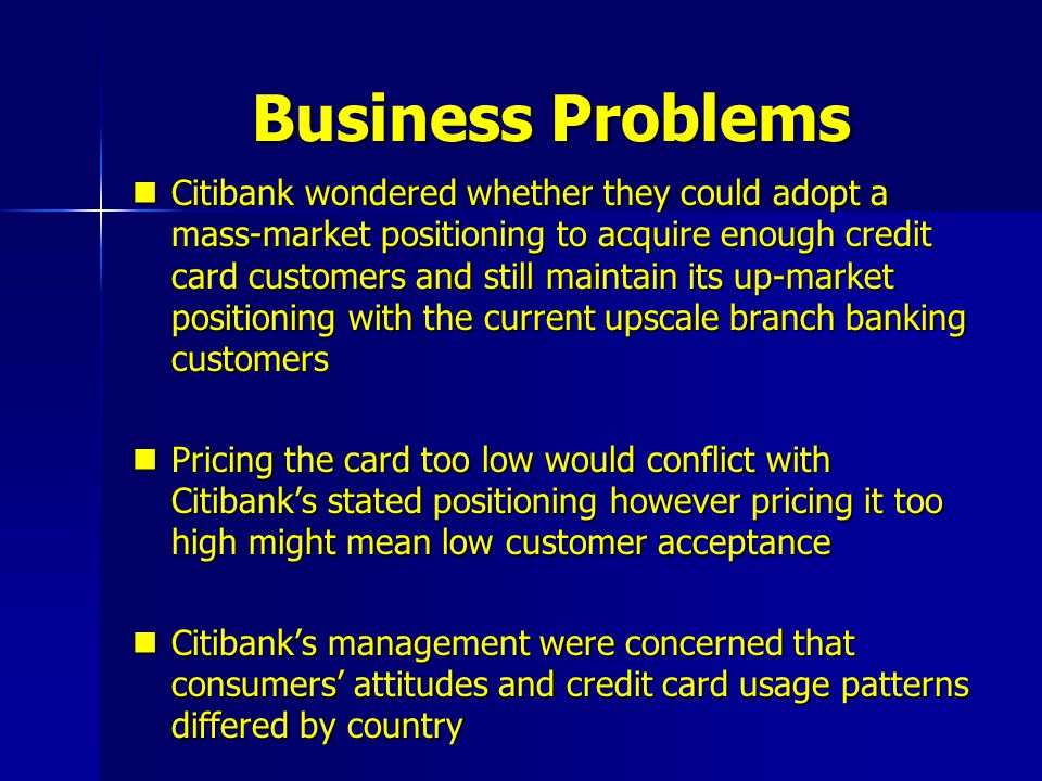 Citibank launching the credit card in asia pacific ppt video business problems colourmoves