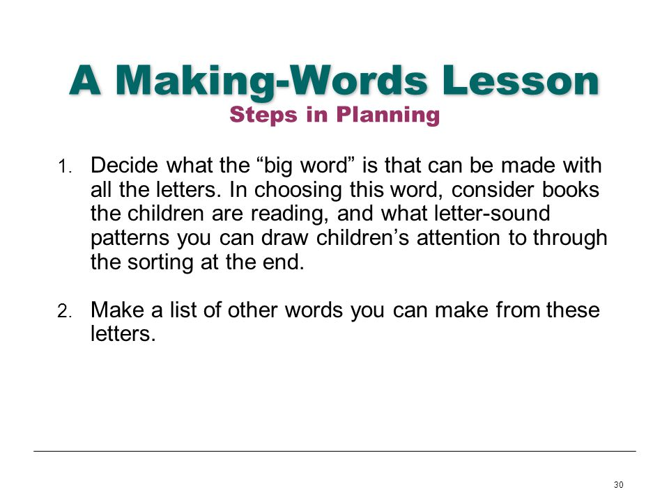 make a word from these letters language arts module 3 writing from letters to 1490