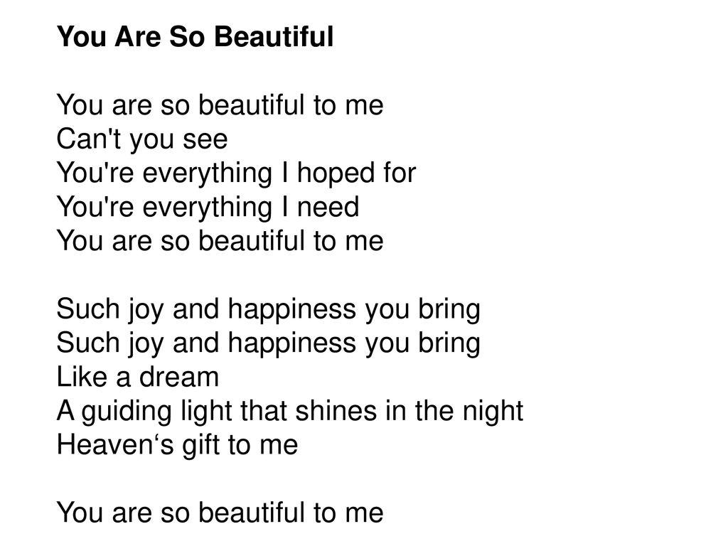Joe Cocker   You're so beautiful lyrics youtube   ppt download