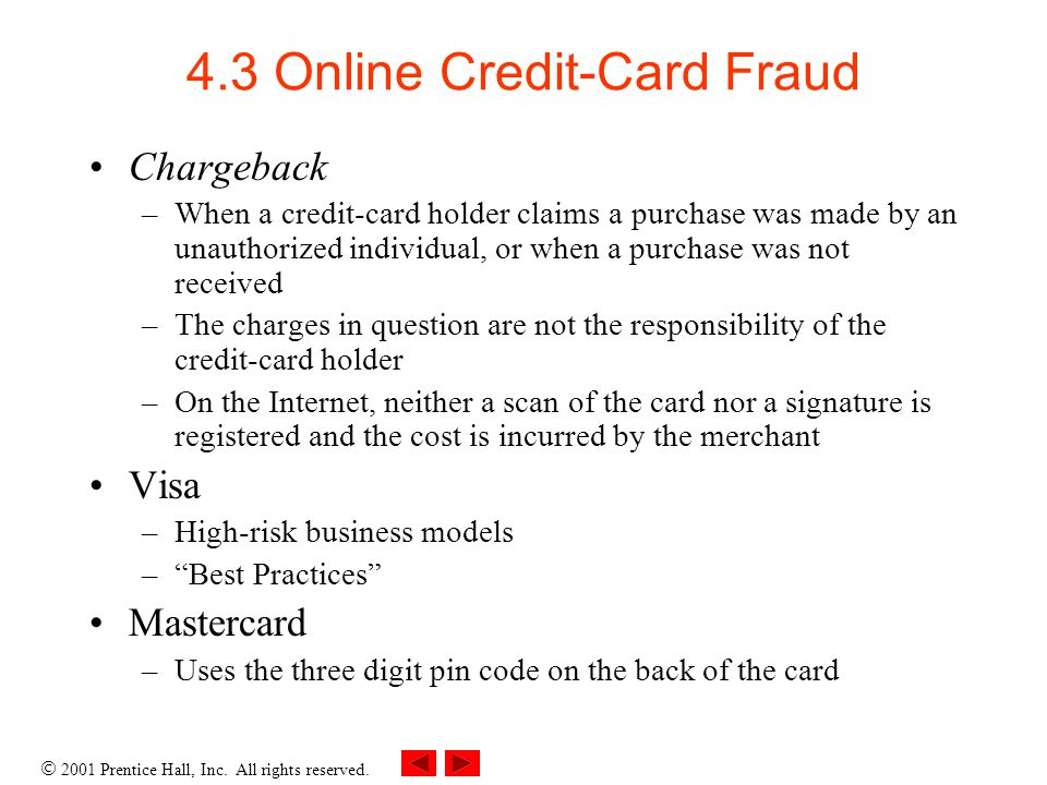 4.3 Online Credit-Card Fraud
