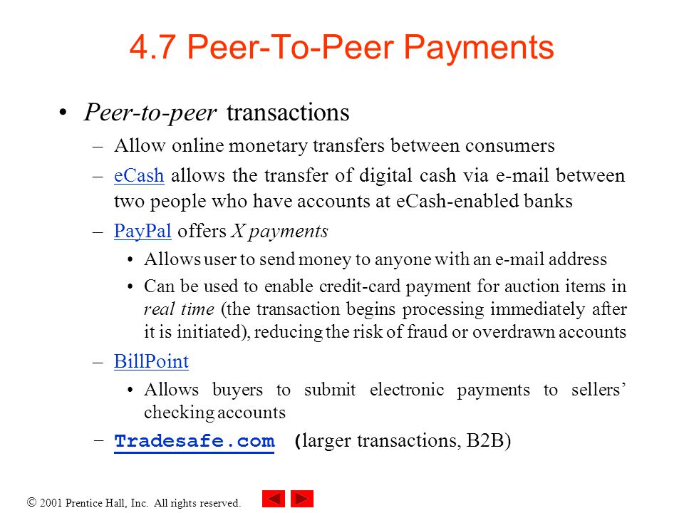4.7 Peer-To-Peer Payments
