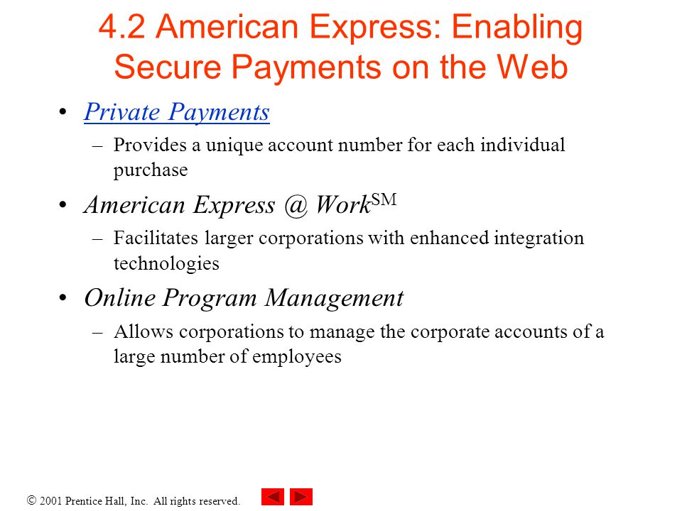 4.2 American Express: Enabling Secure Payments on the Web