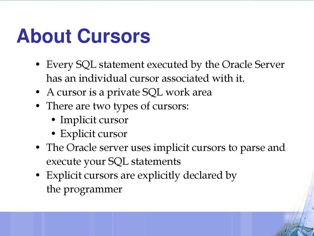 Cursors  - ppt download