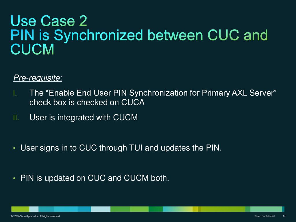 Cisco Unity Connection Common PIN - ppt download