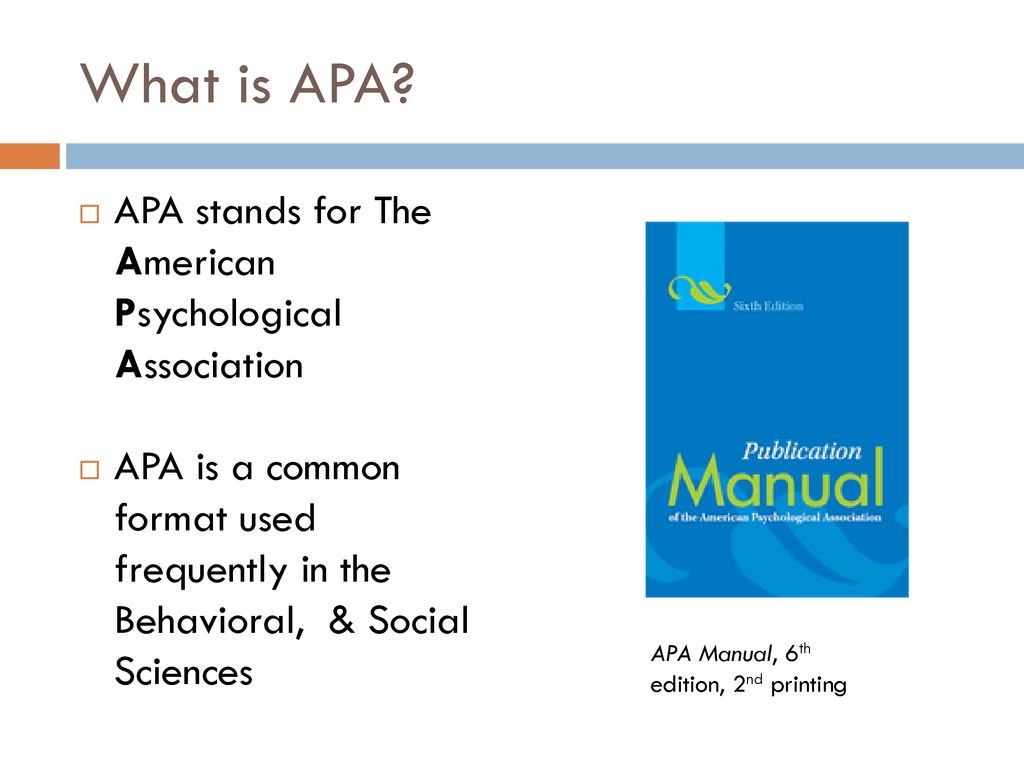 apa manual 6th edition 2nd printing