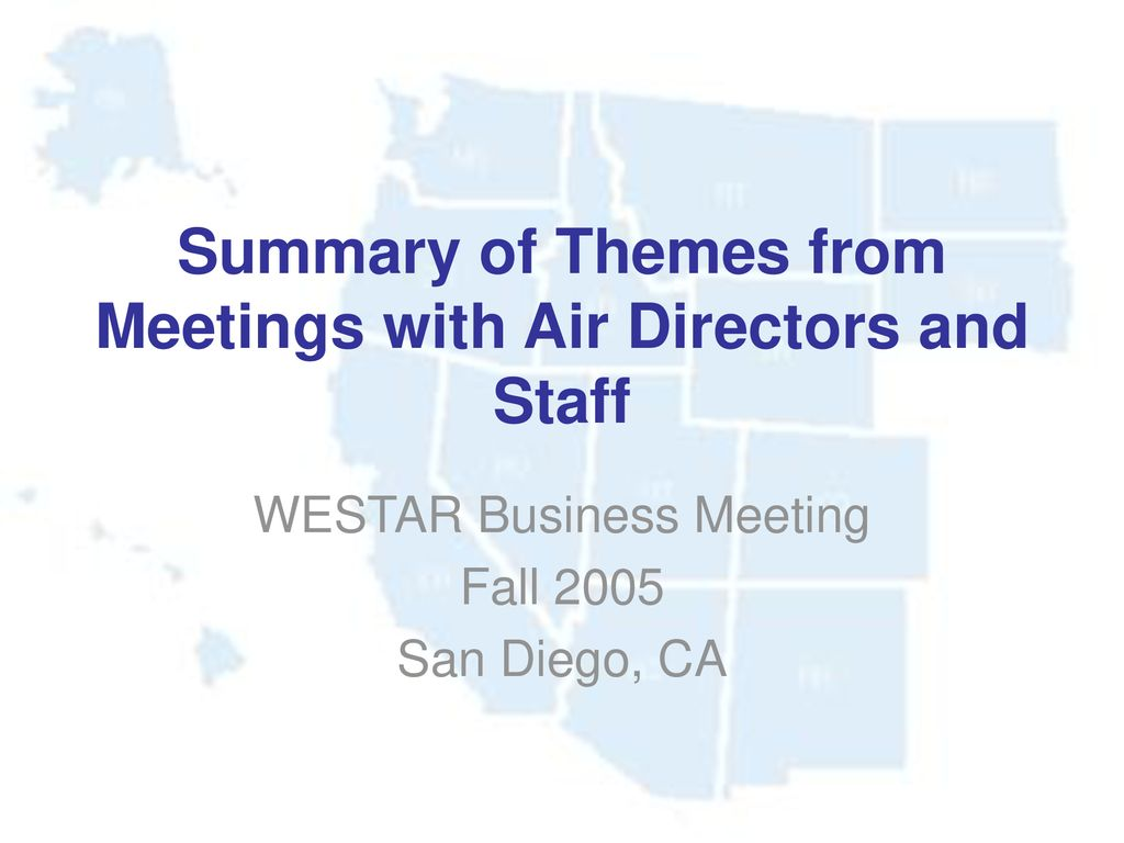 summary of themes from meetings with air directors and staff ppt
