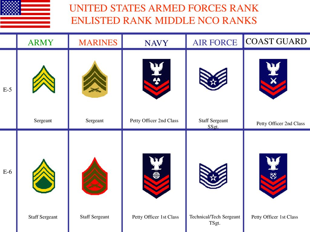 UNITED STATES ARMED FORCES RANK - ppt download