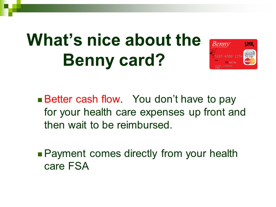 What's nice about the Benny card