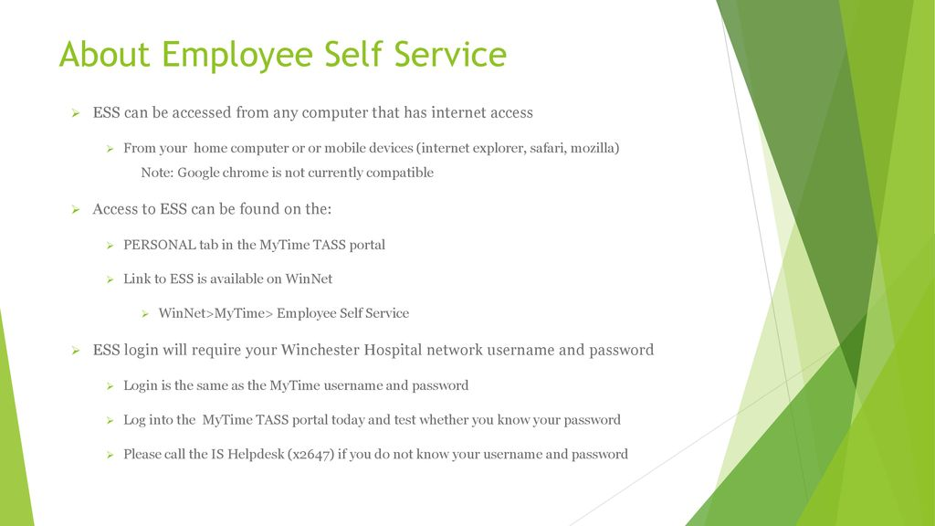 Employee Self-Service (ESS) Module - ppt download