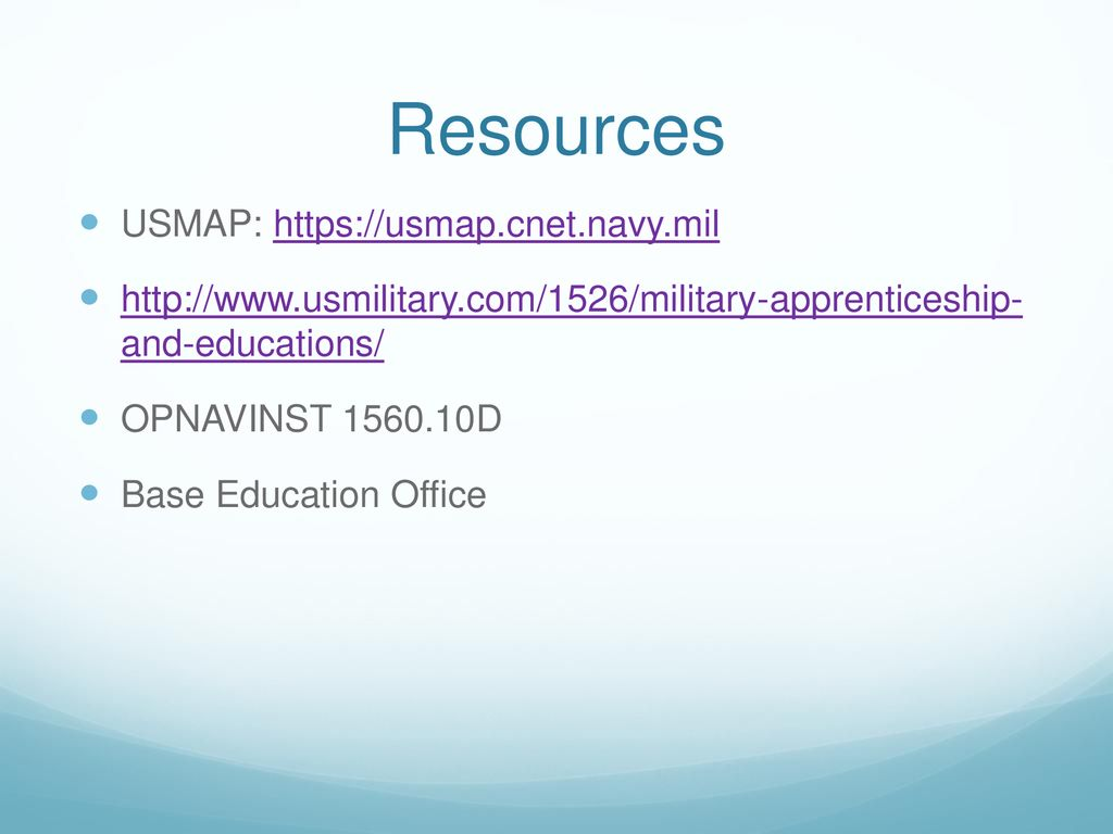 United Services Military Apprenticeship Program (USMAP) - ppt download