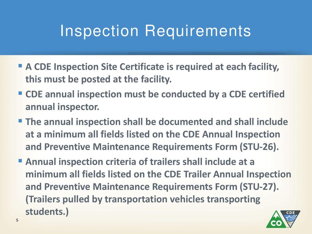 Cde Transportation Unit Ppt Download