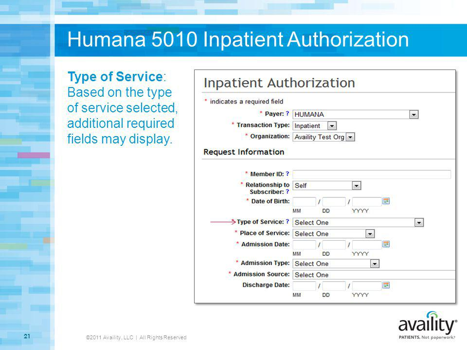 Humana 5010 Inpatient Authorization