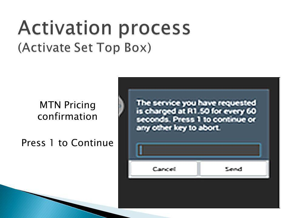 Activation process Activate Set Top Box  - ppt video online