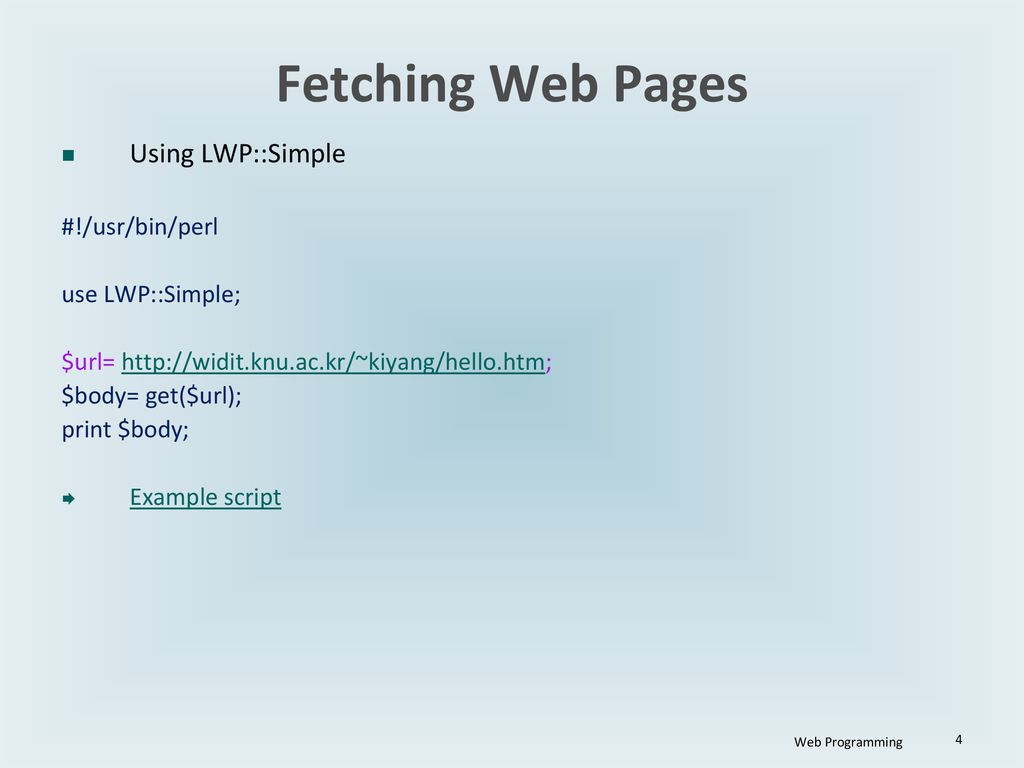 Collecting/reorganizing web info using perl: a tutorial ppt download.