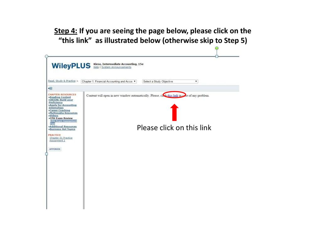 Instructions on how to use the Kieso, Intermediate Accounting CPA
