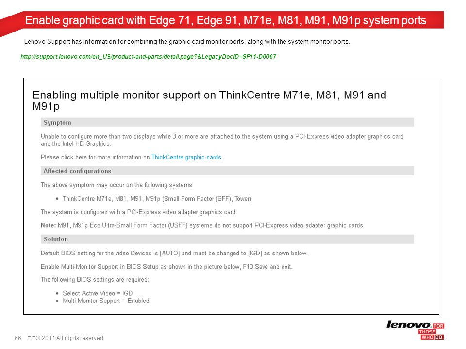 ThinkCentre Multiple Monitor Configuration Guide December 9th ppt