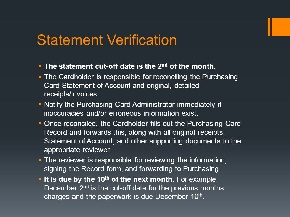 Statement Verification