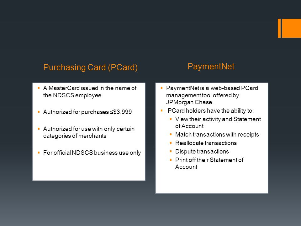 Purchasing Card (PCard)