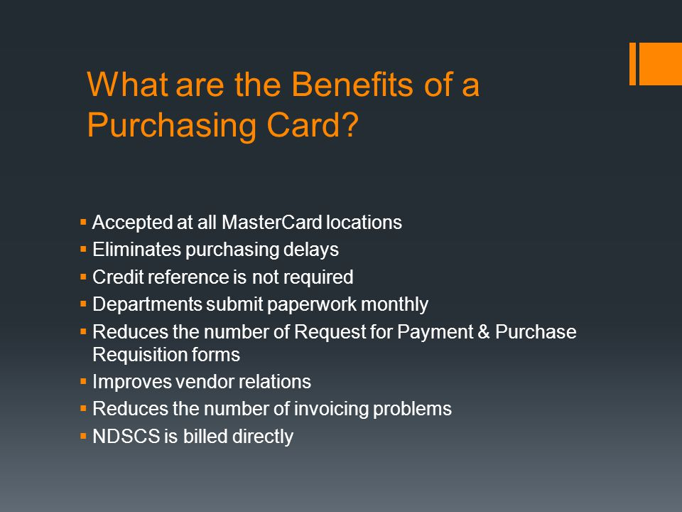What are the Benefits of a Purchasing Card